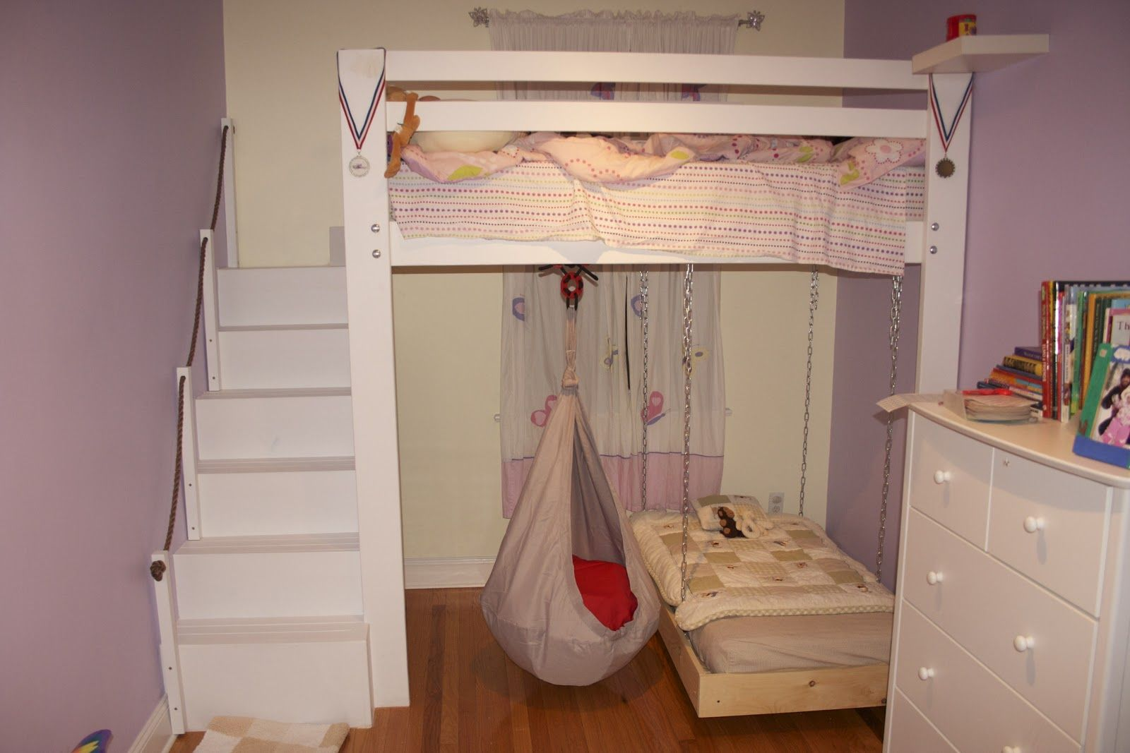 Best Kids Space Loft Bed Bunk Bed Build With Hanging Toddler 640 x 480