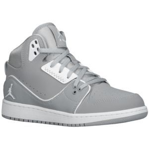 74c4a7154d38 Jordan 1 Flight 2 - Boys  Grade School - Wolf Grey White