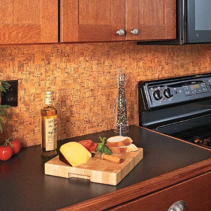 Update a Backsplash with Cork Flooring Cork flooring