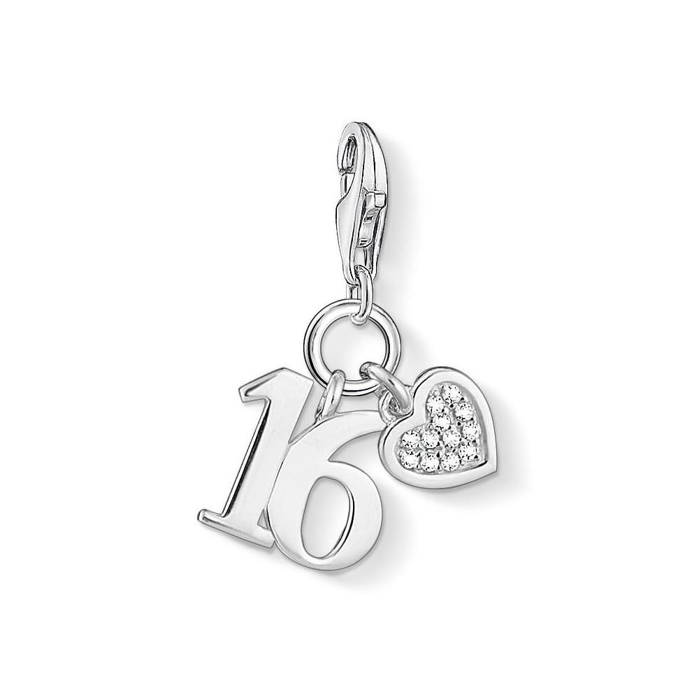 Thomas Sabo Charm Club Lucky Number 16 Pendant Thomas Sabo S Sweet Sixteen The Sweet Combination Charm Made Of Thomas Sabo Charms Thomas Sabo Lucky Number