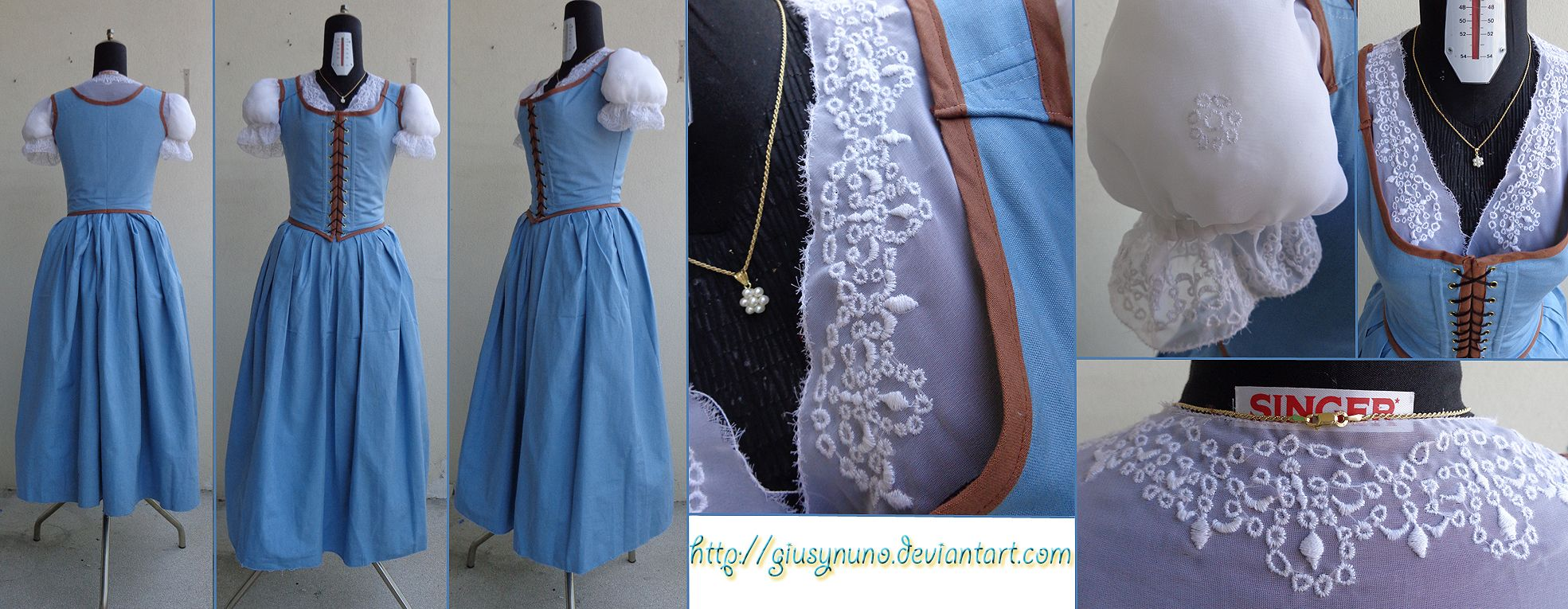 10  images about Costuming - Belle OUAT Blue Dress on Pinterest ...