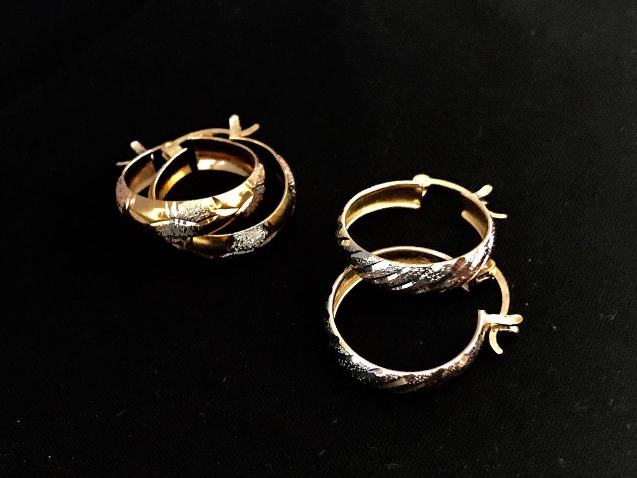 55a4d7f46185 ACOFLOPA Arracada especial con broche patente en chapa de 3 oros  florentino