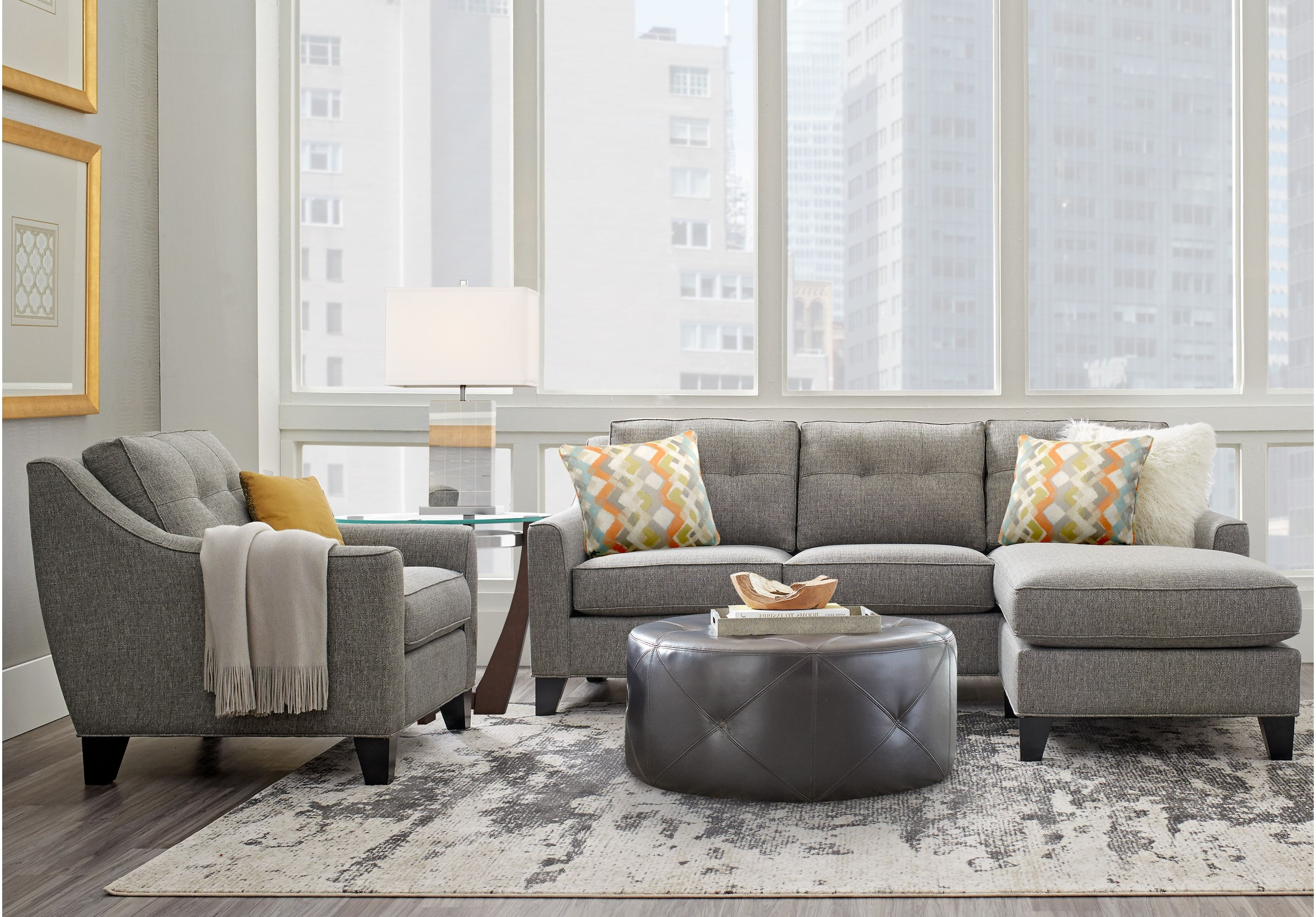 Cindy Crawford Home Madison Place Gray Textured 2 Pc