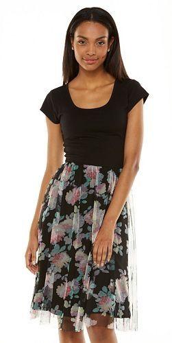 LC Lauren Conrad Knit Tulle Dress - Women's #Kohls