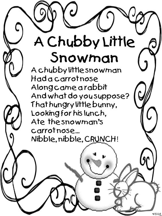 photograph about Chubby Little Snowman Poem Printable referred to as Pin upon SNOWMEN