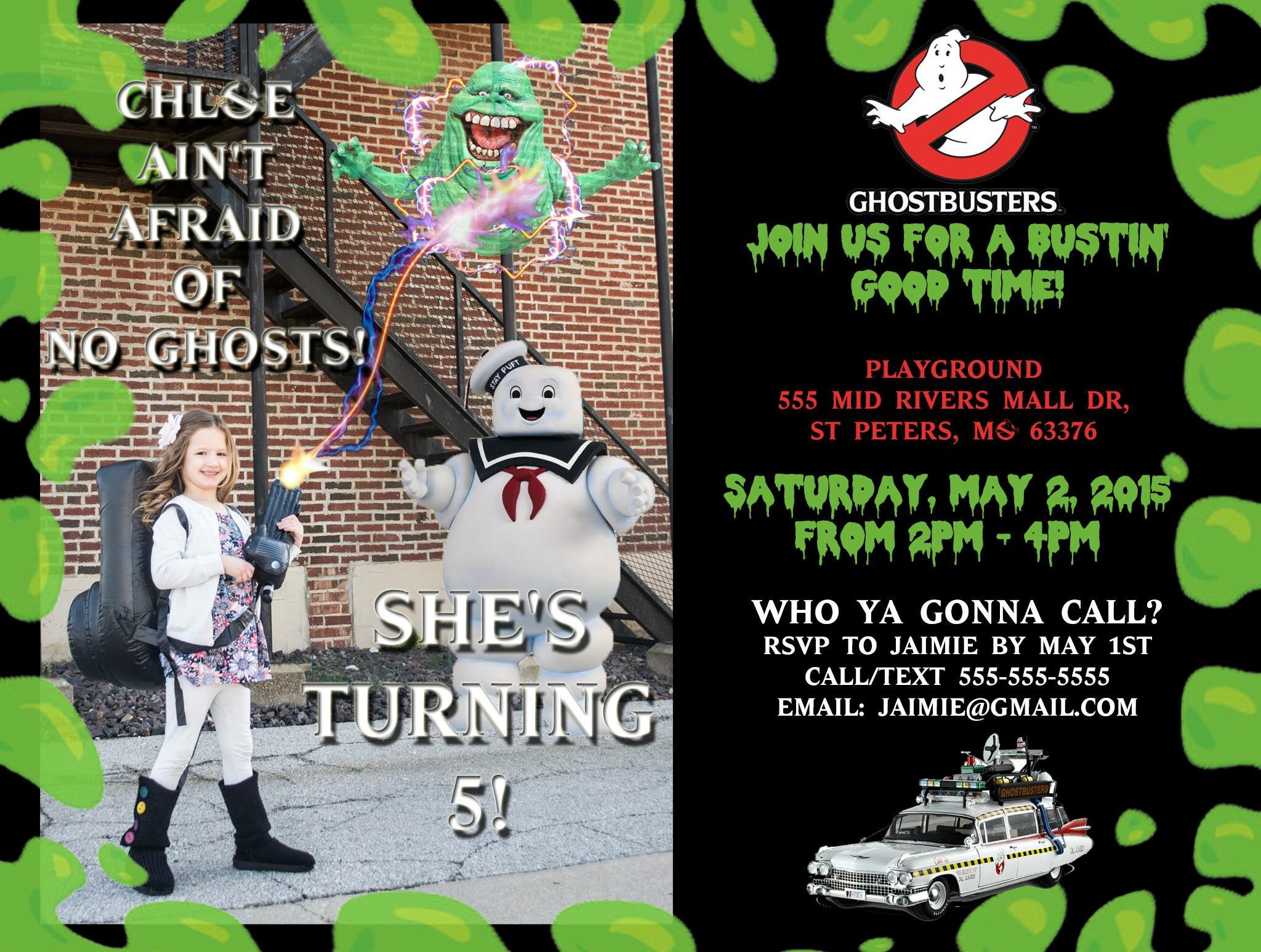 Ghostbusters invitation Ashtons 6th Ghostbusters Bday Pinterest