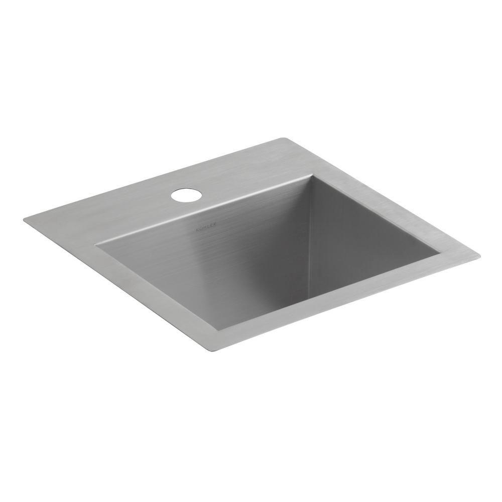Kohler Lyric Dual Mount Stainless Steel 15 In 1 Hole Single Bowl