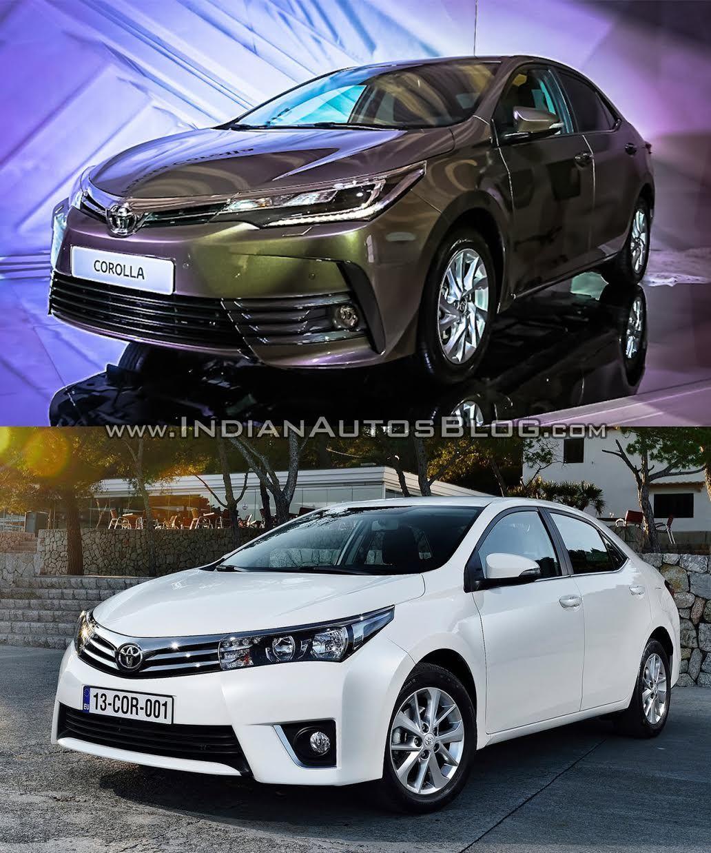 2016 Toyota Corolla Facelift Vs Older Model Old New