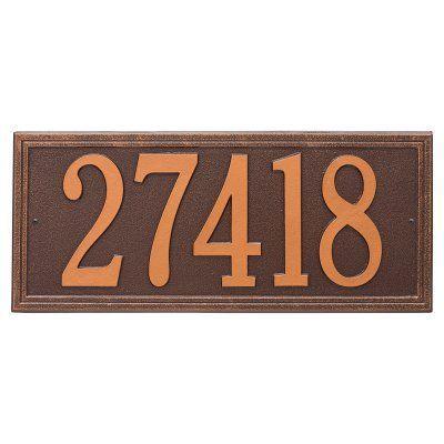 Whitehall 1-line Wall Plaque Antique Copper - 6106AC, Durable