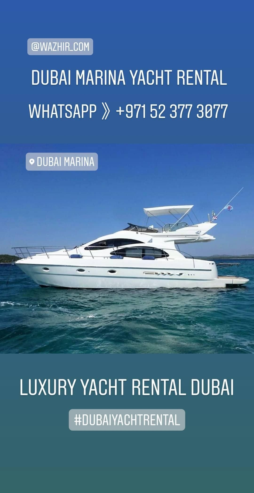 Luxury Yacht Rental Dubai Marina in 2020 Luxury yachts