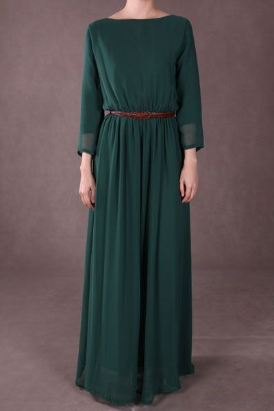 Poplook chiffon maxi dress