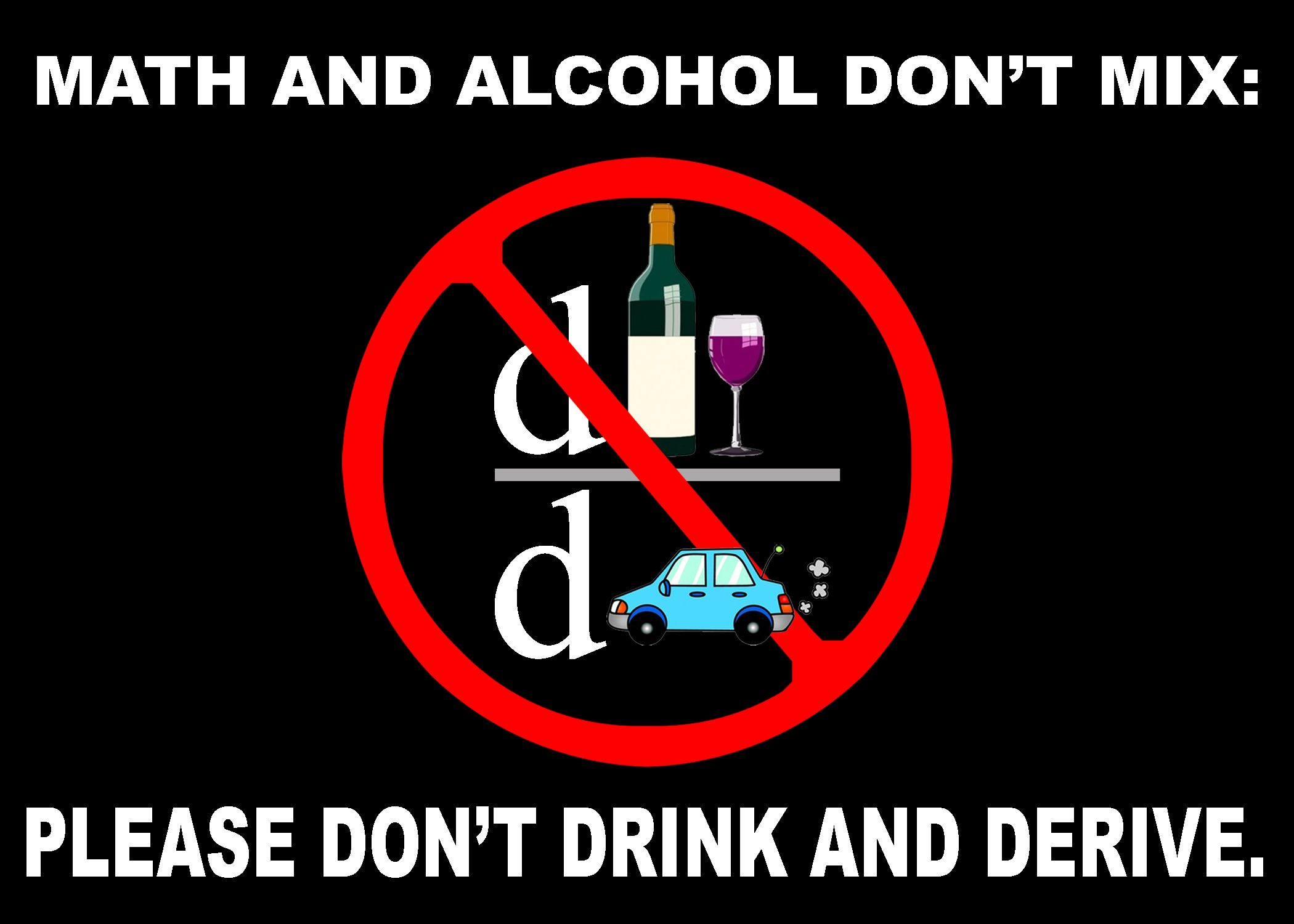 Math And Alcohol Dont Mix Please Dont Drink And Derive