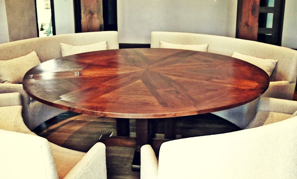 Expanding Round Table From Western Heritage Furniture
