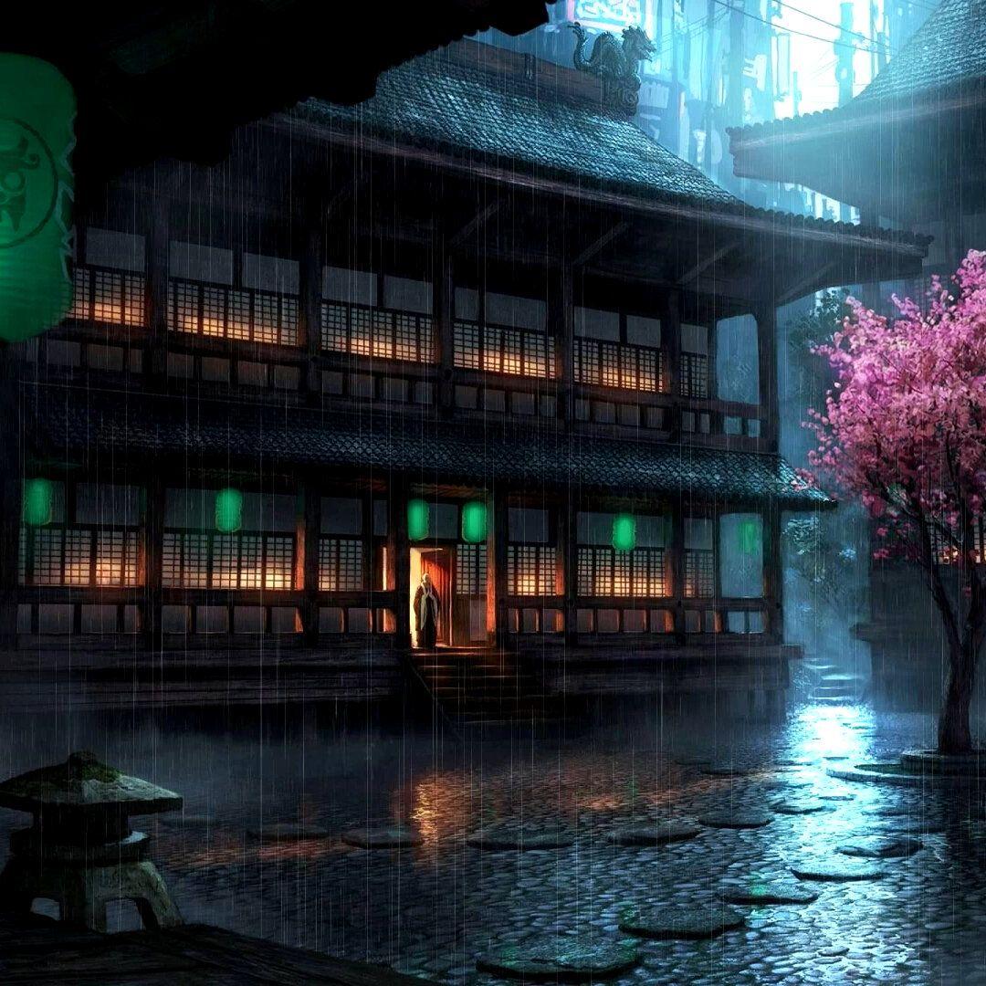 Anime Backyard Rain Wallpaper Engine Rain wallpapers