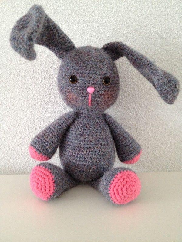 gratis haakpatroon konijn 2 | haken | Pinterest | Conejito de ...