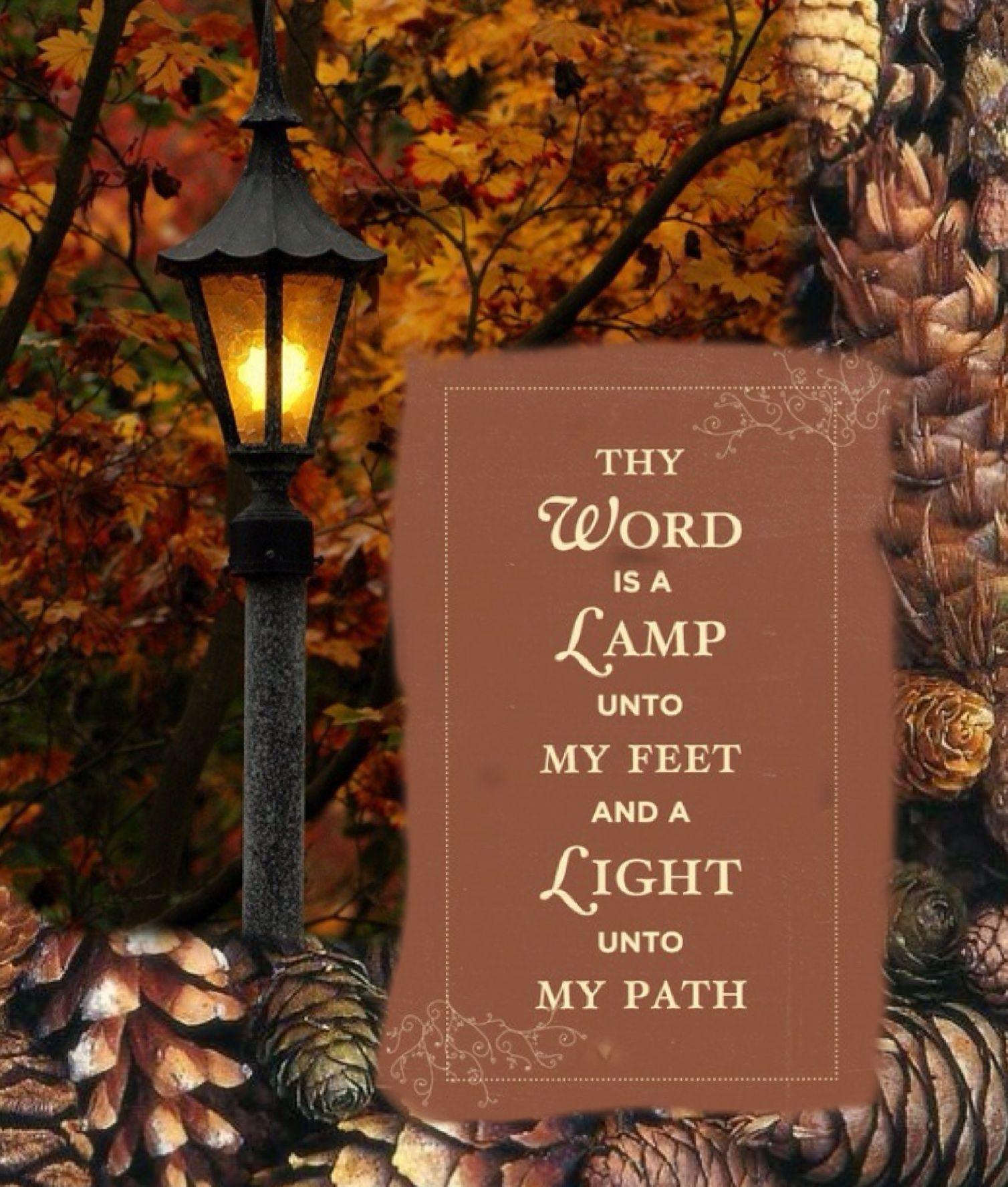 Psalm 119:105 (KJV) ~~ Thy word is a lamp unto my feet