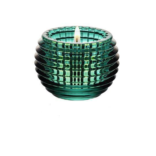 Portavelas Eye, Baccarat, 2802539, verde esmeralda, Designer: Nicolas Triboulot, A:7cm, iluminação quente.