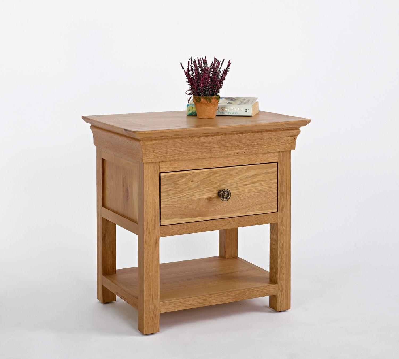 bordeaux oak 1 drawer bedside bordeaux oak is a french style range crafted from carefully chosen