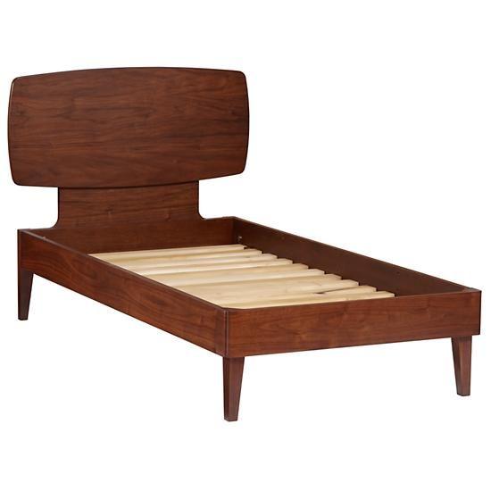 Kids Beds Walnut Retro Ellipse Bed The Land Of Nod
