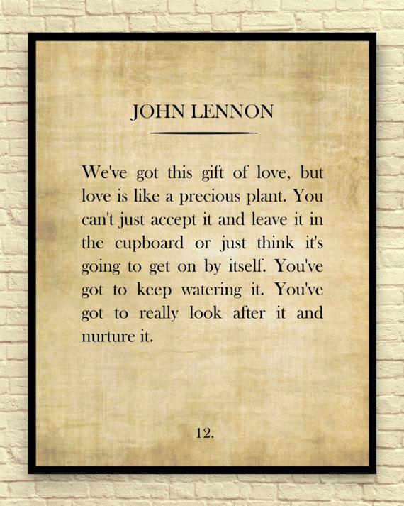 Classic Book Page, John Lennon, John Lennon Quote, Vintage Book Page ...