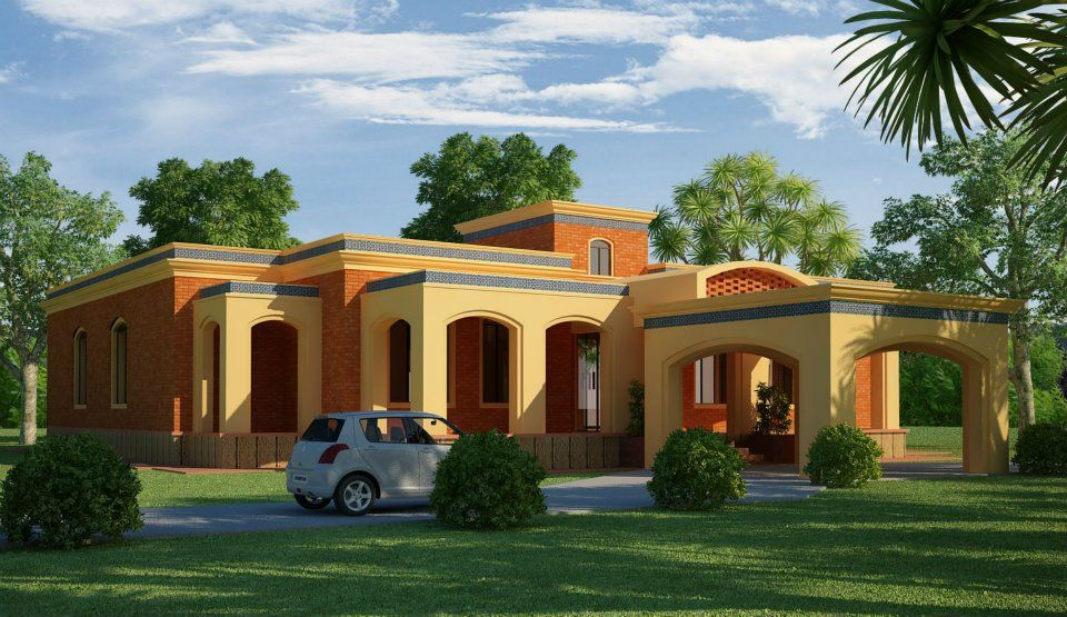 farmhouse in karachi for picnic | elevation and plans in