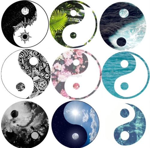 cute hipster indie Grunge pretty cool pastel yin yang ying yang ...