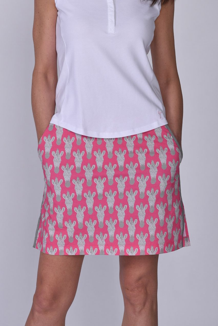 Animal Print Zebra Stretch Cotton Skort in 2