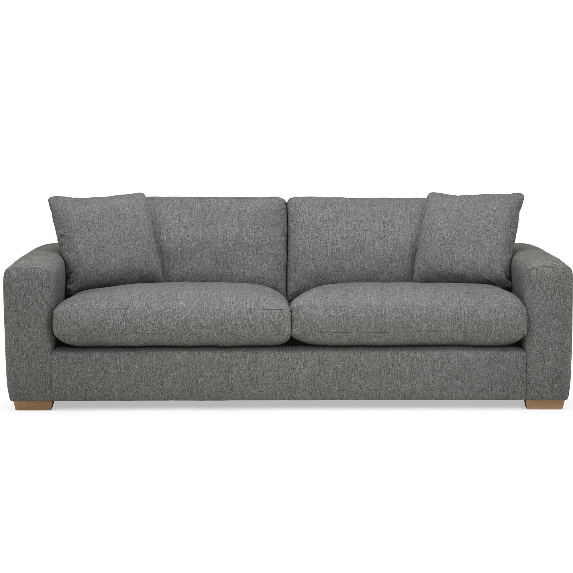 Porto Fabric 4 Seater Sofa Dark Grey In 2020 Sofa Dark Grey Grey Fabric