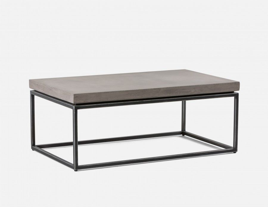 Kaia Coffee Table With Grey Concrete Top Grey Coffee Table