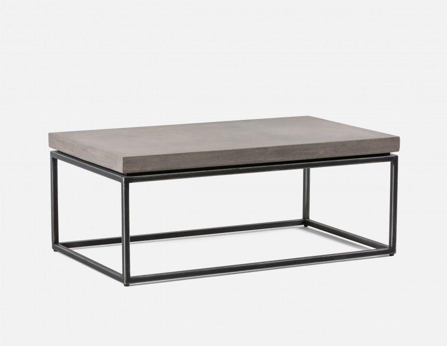 Kaia Coffee Table With Grey Concrete Top Grey Concrete