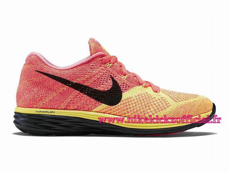 Nike Flyknit Lunar 3 Hot Lava/Laser Orange-Black: The beloved Flyknit Lunar  3 silhouette has already been done in both clean white and black versions  ahead ...
