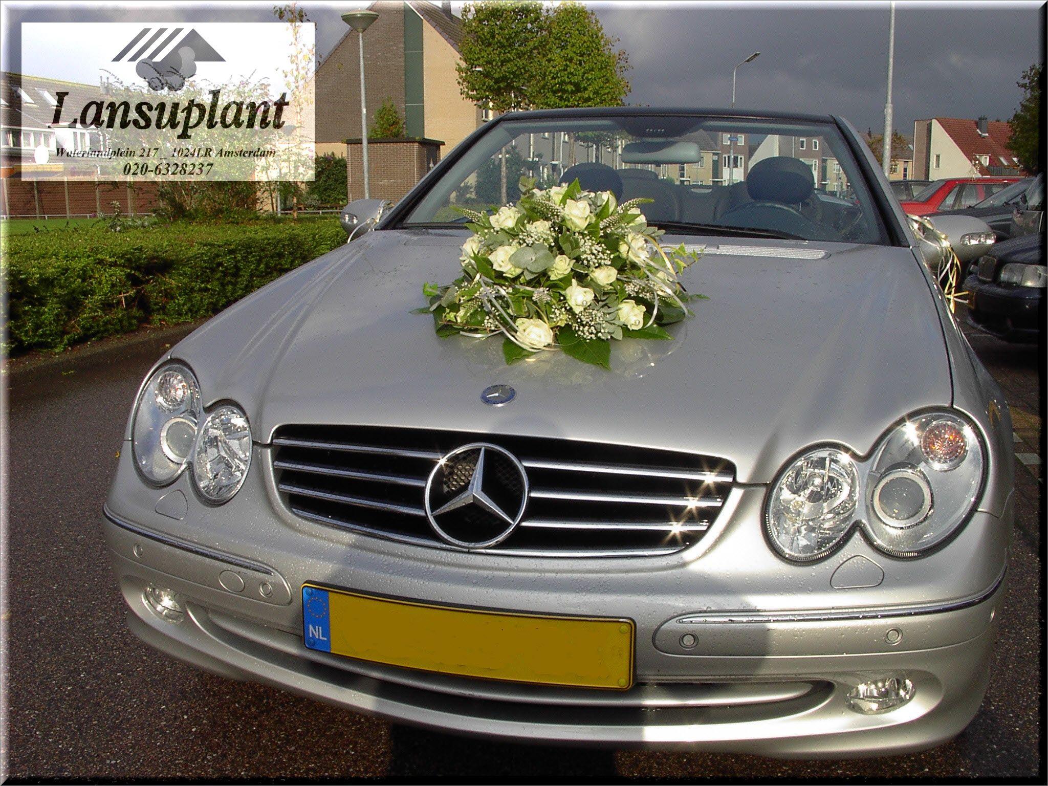 #Autostuk trouwauto voor een onvergetelijke huwelijksdag. Gemaakt door bloemenwinkel #Lansuplant Waterlandplein #Amsterdam