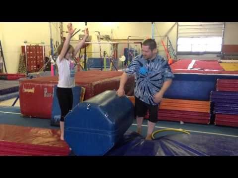 vault drills handstand flat backs over rolle mat