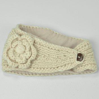 Cozy  headband with a removable flower! $12 Daisy Head Wrap