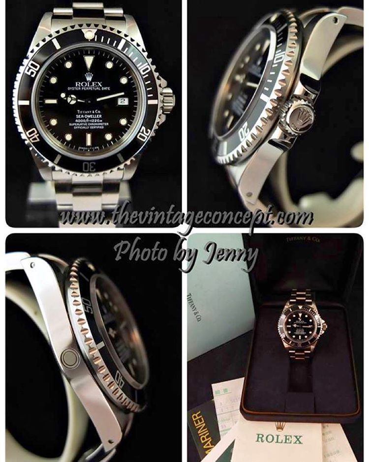 The Vintage Concept On Instagram Rolex Sea Dweller 16600 Double Name Tiffany Co Full Set Whatsapp 852 96991000 Ema Rolex Sea Dweller Rolex Sea Dweller