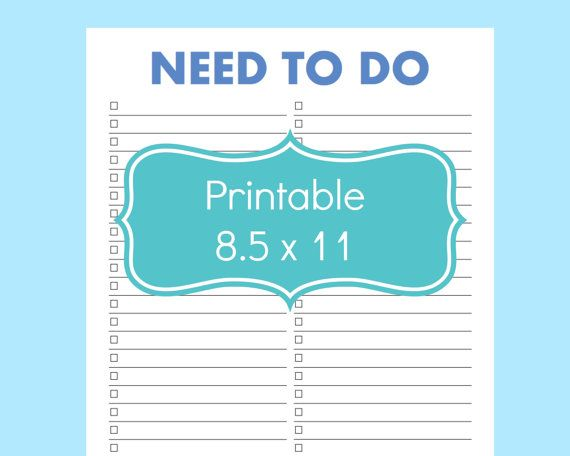 Printable Task List To Keep Track Of All Of Your Important Action