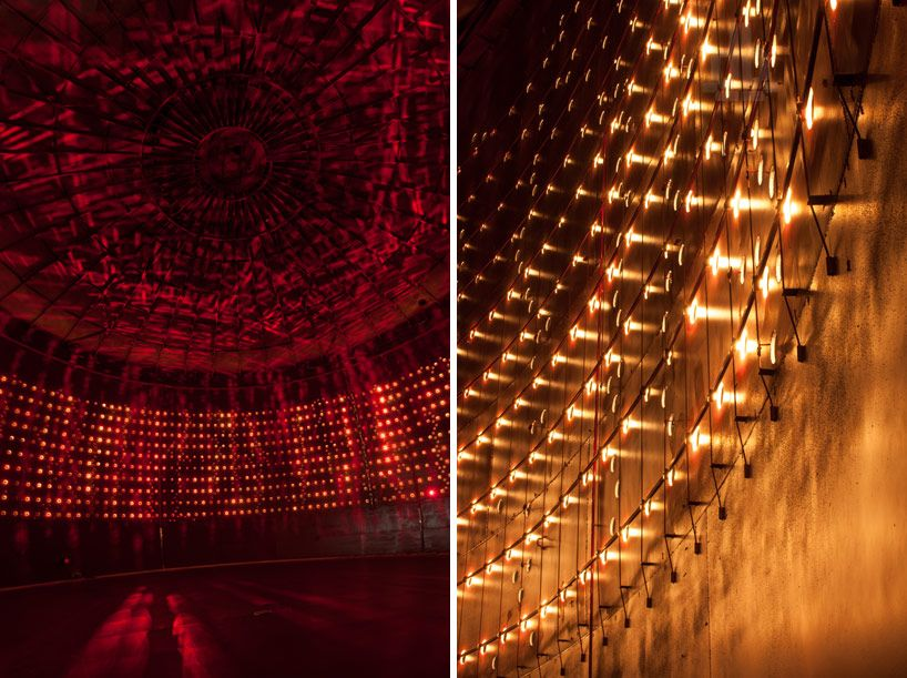 Lighting design collective convert silo 468 into public light show
