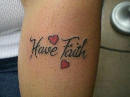 faith on arm tatts mod piercings