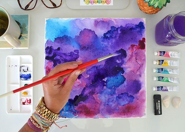 Watercolor Wall Art Diy Canvas Art Wall Art Crafts Watercolor