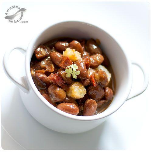 Caraotas rojas alubias jud as o frijoles con chorizo alubias frijol y chorizo - Como cocinar alubias rojas ...