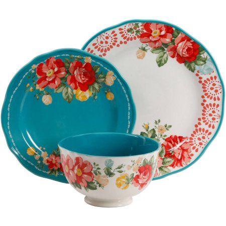 The Pioneer Woman Vintage Floral 12 Piece Dinnerware Set