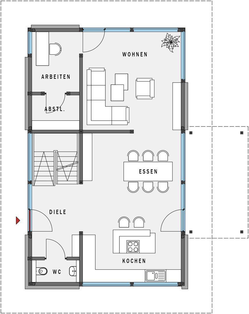 erdgeschoss grundrisse efh pinterest haus grundriss haus und haus pl ne. Black Bedroom Furniture Sets. Home Design Ideas