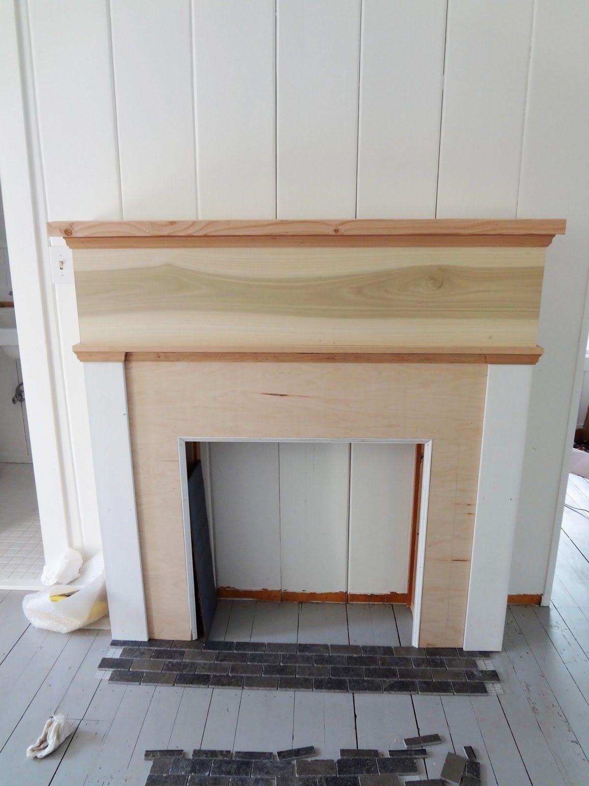 A Country Farmhouse Farmhouse Renovation  Faux Fireplace