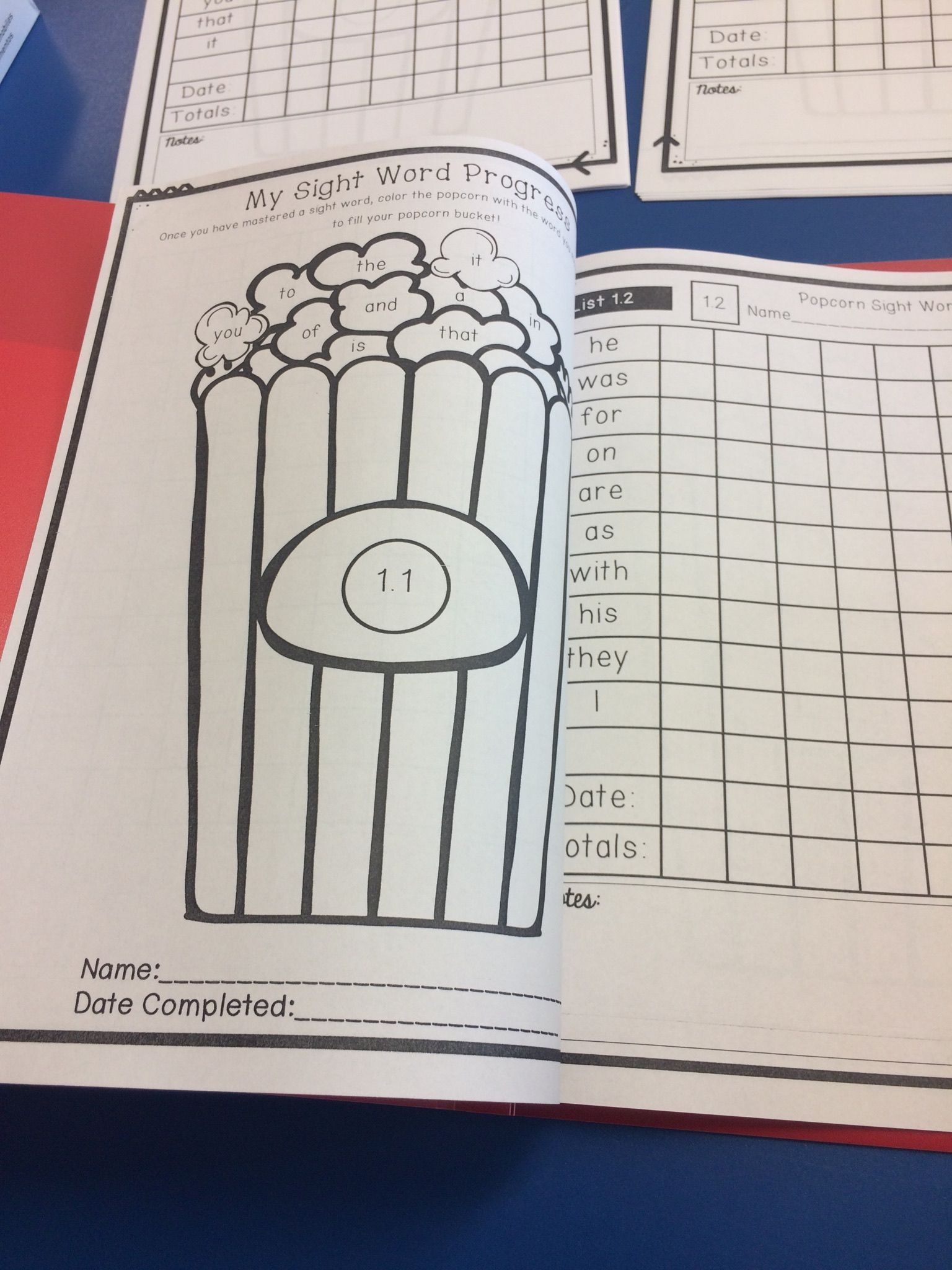 Popcorn Sight Word Assessment Fry List 300 Words With