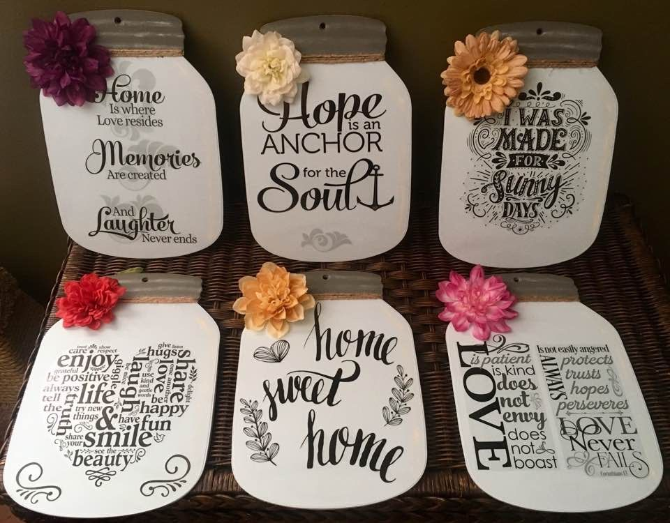 Dollar tree cardboard mason jars paint and vinyl decals everything but paint found at