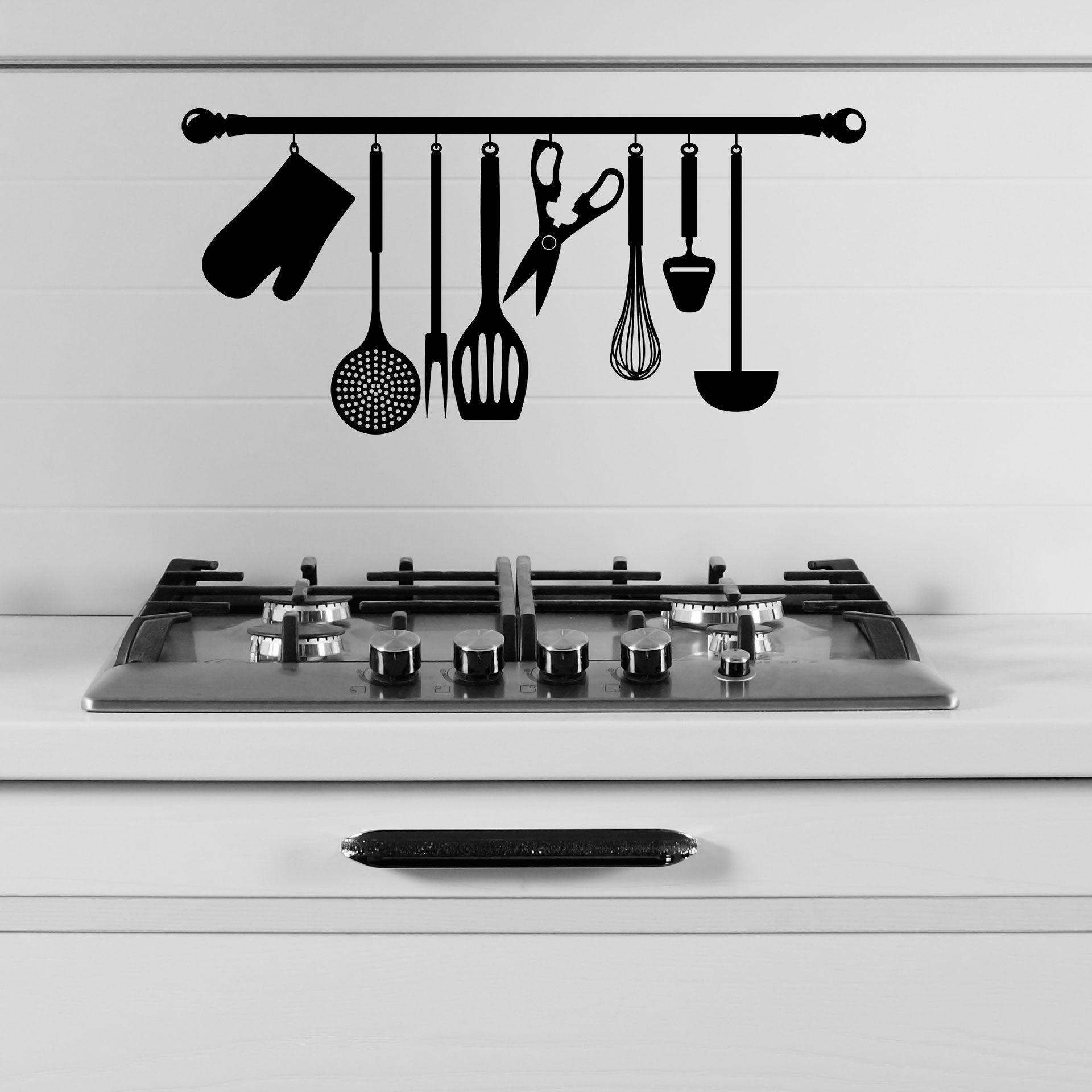 Vinilo decorativo utensilios de cocina encu ntralo en for Utensilios de cocina logo