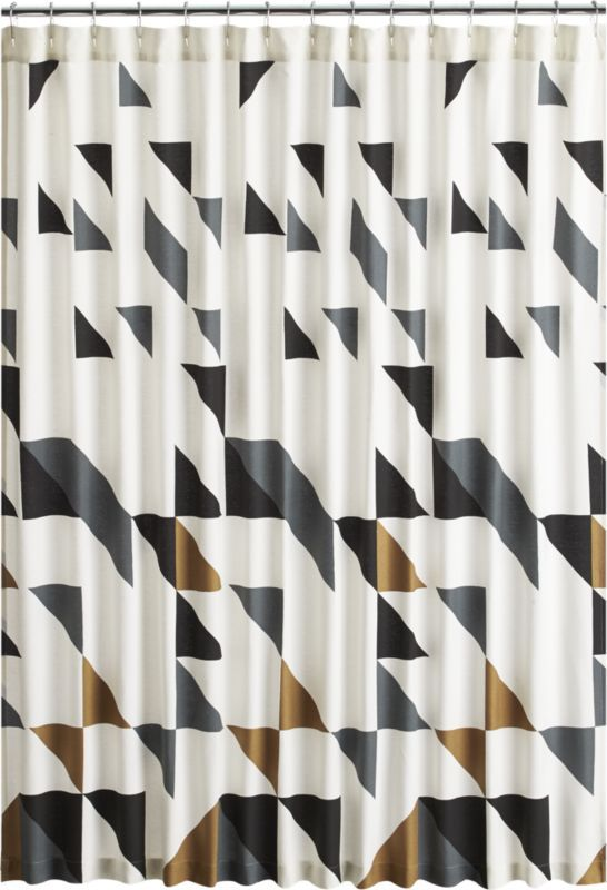 Triangle Shower Curtain Reviews Cb2 Geometric Shower Curtain