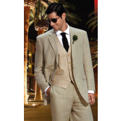 Calvin Klein Men's Linen Suit. My man would look phenomenal in this!