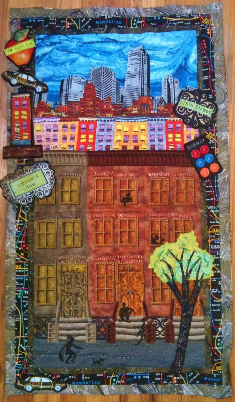 Laura Gadson - Brownstone. Now this is my kind of fabric art -painting with fabric.