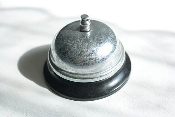Admirable Vintage Desk Bell Vintage Call Bell Front Desk Bell Interior Design Ideas Skatsoteloinfo